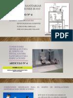GRUPO 9 - Instalaciones sanitarias para edificaciones IS 0.10 - Condiciones generales para el diseño