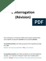 interrogation revision avancé