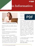 BOLETÍN INFORMATIVO - MODALIDAD PRESENCIAL
