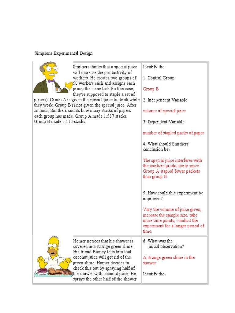 Alien Juice Bar Worksheet Answer Key Experiment