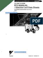 SGDM Servo User's Manual Sie-S800-31 1D