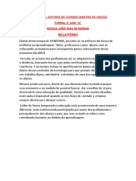 RELATORIO. ANTONIA DE LOURDES