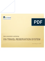 Via travel reservation system - User Workshop