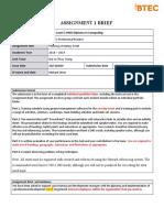 Unit 3 - Assignment 1 brief