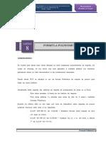 8.0 Formula polinomica linea Calpa