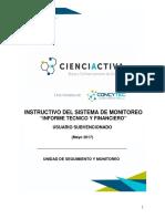 Instructivo Informe Técnico Y Financiero