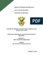 TESIS UNIONES DE CREDITO Y PRODUCTORES AGRICOLAS EN SINALOA (1937-1966)