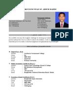 Bio-Data  Md. Rahim