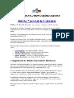 Material Himno Nacional CTHA Honduras