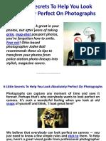 Consejos para posar en fotos (inglés)
