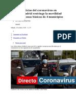 Últimas noticias del coronavirus en directo