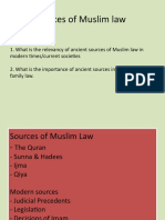 4 Sources of Muslim Law