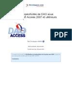specificités de dao sous access 2007