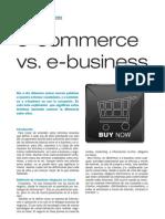 e-commerce vs e-business