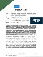 Directiva N° 16 MInEducación