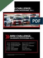 Calendario Provisional MINI Challenge