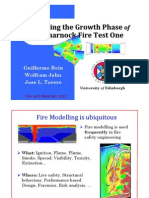 Modelling of the Growth Phase of Dalmarnock Fire Test One (Fire and Materials 2011)