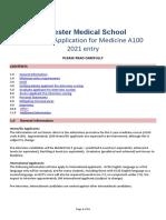 2021 Scoring of Application A100 v2