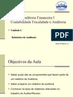Lic___ o 06 Relatório do Auditor sobre demonstrações financeira.ppt