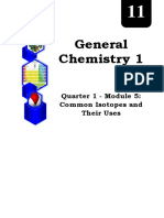 GENERAL CHEMISTRY_Q1_Mod5_Isotopes and Their Uses