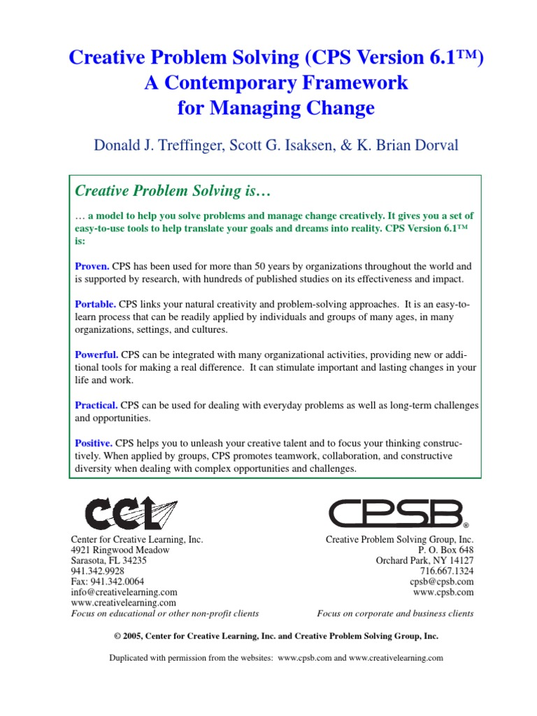 cpsb (the creative problem solving group inc.)