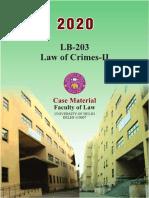 LB-203- Law of Crimes -II Full Material Jan 2020