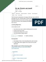 Create an Azure account - Learn _ Microsoft Docs