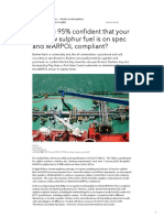 Are you 95% confident that your very low sulphur fuel is ... - GARD