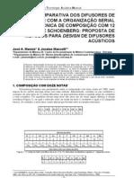 Mannis-Análise Comparativa dos Difusores de Schroeder com a a organização serial