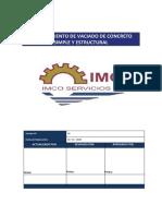C006 Procedimiento de Trabajo - Vaciado de Concreto