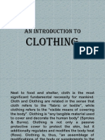 An Introduction to Clothing