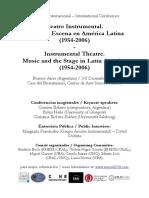 ConferenciaTeatro Instrumental música y escena en América Latina 2018