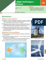 Fiche pédagogique - Les énergies (16) Réaliser un objet technique _ une mini-éolienne