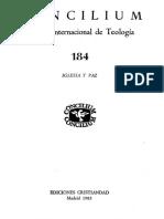 concilium 184 - iglesia y paz