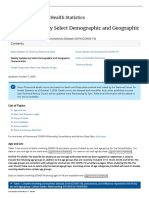 COVID-19 Provisional Counts - by Select Demographic and Geographic Characteristics (Oct 7, 2020))