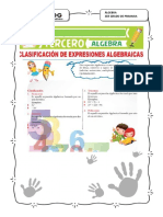 ALGEBRA CLASIFICACION DE UNA EXPRESION ALGEBRAICA 3ER GRADO.pdf