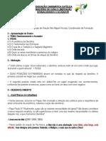 ROTEIRO DE FORMAÇÃO DO MINISTÉRIO DE CURA E LIBERTAÇÃO