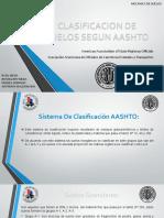 CLASIFICACION DE SUELOS SEGUN AASHTO