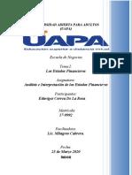 Tarea I Analisis e Interpretacion Est. Fin. Eduviges Correa R