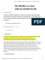 As fontes do direito e a sua aplicabilidade na ausência de norma (Constitucional) - Artigo jurídico - DireitoNet