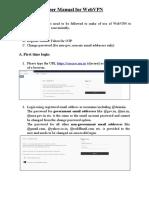 User Manual for WebVPN