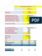 DCF method (Instrict Value of a stock) by Adam Khoo