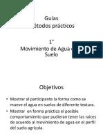 Guias Métodos práctico Movimiento de Agua en el Suelo
