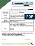BLOCO DE ATIVIDADES- 5ºANO  pronto