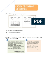 clasificación géneros literarios