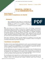 el analisis musical entre el formalismo y la hermeneutica