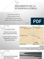 Desbordamiento de la presa de Bongiao (China (1) RIESGOS