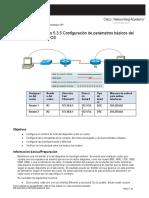 Unidad 4. Recurso 5. Práctica de laboratorio 5.3.5 Configuración de parámetros básicos del