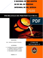 Problemas Tarea 2 - Pirometalurgia