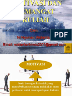 MOTIVASI DAN SEMANGAT KULIAH